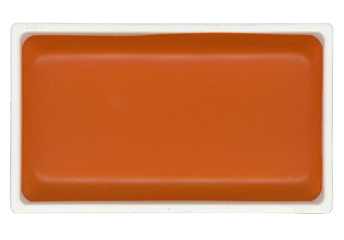 KitAbility Gansai Tambi Watercolor Paint Pan Orange Number 33 Single Solid Color fits in 12 18 24 and 36 Trays Japanese Traditional Solid Water Color