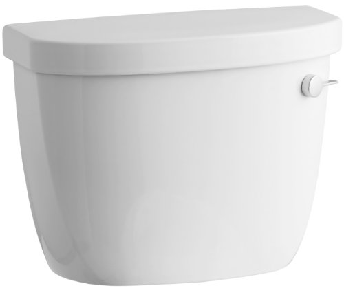 Kohler K-4418-RA-0 Cimarron Class Six Toilet Tank with Right-Hand Trip Lever, (Trip Lever White Ceramic)