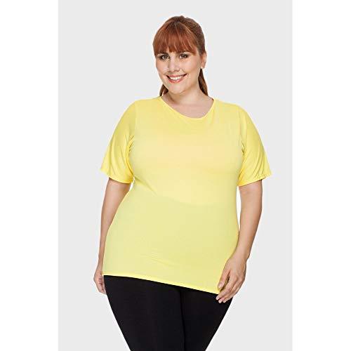 Blusa Fitness Plus Size Amarelo-50