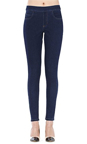 Isolde - Skinny Dark Blue Indigo Jegging Super Stretch Knit Denim for Women with Fully Functional Pockets XL