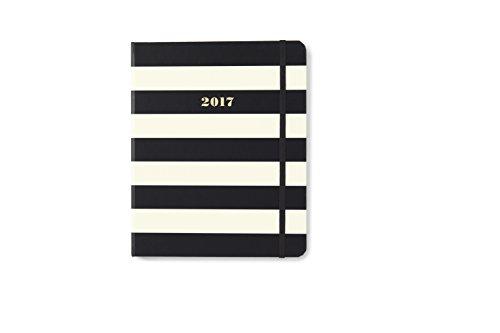kate spade new york Conceal Sprial 2016-17 Large Agenda, Black Stripe ()
