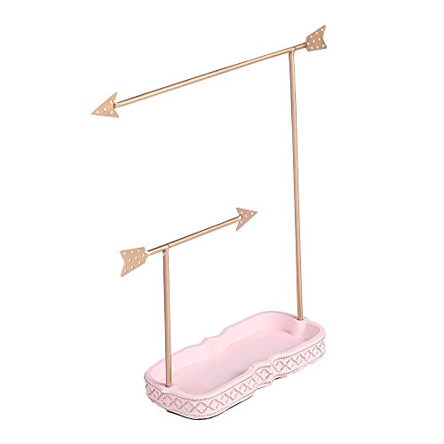 Ikee Design Metal Arrows Necklace Tree Stand Jewelry Storage Store Display for Necklace,Bracelet,Earrings,Ring