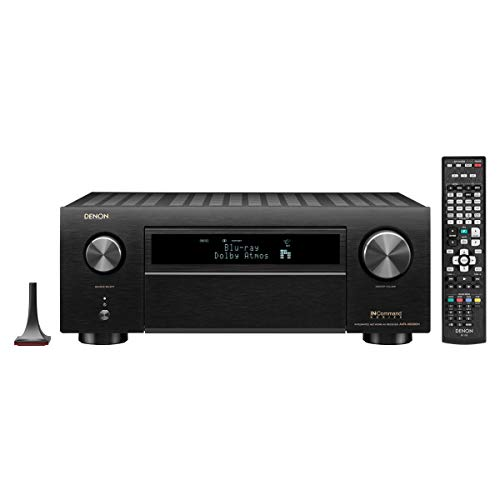 Denon AVR-X6500H 11.2 Ch. 4K AV Receiver with 3D Audio and Amazon Alexa Voice Control Black