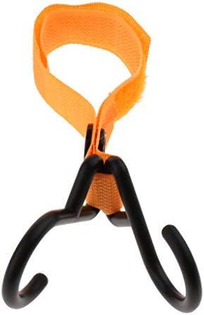 バギーフック ベビーカー用フック ベビーカーフック 荷物かけフック バックホルダー ホルダー 全5色 - オレンジ