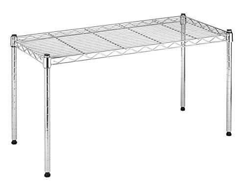 Whitmor Supreme Wide Stacking Shelf - Heavy Duty - Adjustable - Chrome (Renewed) - Large Chrome Stacking Shelf