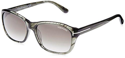 Tom Ford FT0396 Women's London Sunglasses Frame, Olive/Horn, 58-17-140 - London Sunglasses Y