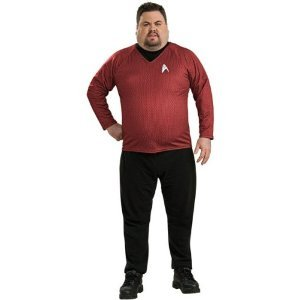 Deluxe Star Trek Shirt Adult Costume Red - Plus Size ()
