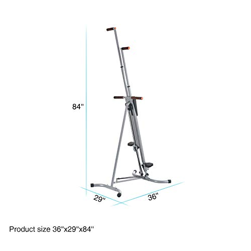 Murtisol Exercise Climber Fitness Vertical Climbing Cardio Machine with LCD Monitor,Natural Climbing Experience for Home Body Trainer by Murtisol (Image #5)