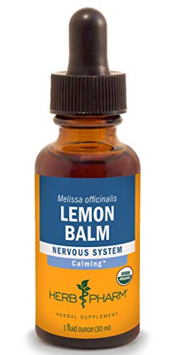 Herb Pharm Lemon Balm Liquid Extract for Calming Nervous System Support - 1 Ounce