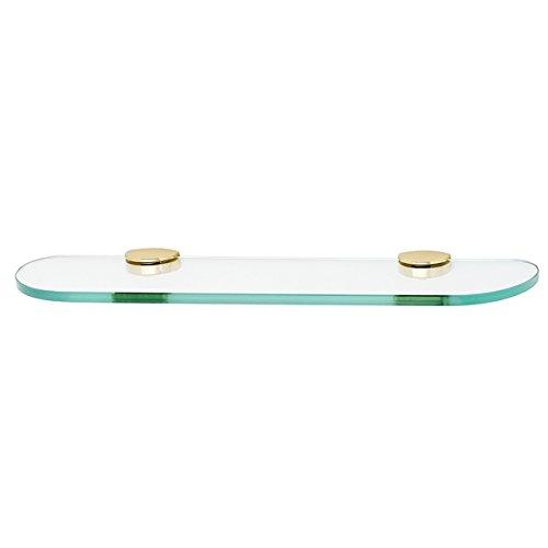 Polished Brass Euro Glass - Alno A8950-18-PB Modern Euro Glass Shelf with Brackets, Polished Brass