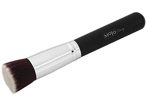 Foundation Kabuki Cosmetic Brush for Face - For Blending Liquid, or Cream, Buffing, Stippling, Concealer Makeup - Large Dense Head with Soft Premium Vegan Synthetic Bristles - Full Coverage Flat Top