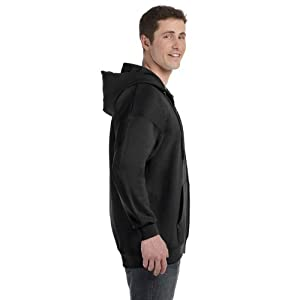 Hanes Men's Ultimate Cotton Heavyweight Full Zip Hoodie_Black_2XL