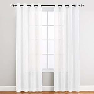 Off white linen like sheer curtains for living - Off white curtains for living room ...