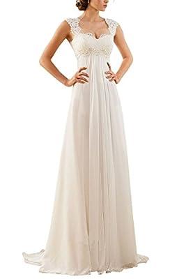 Xiongda's shop sleeveless lace chiffon wedding dress formal dress