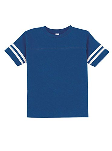 Rabbit Skins 100% Cotton Blank Toddler Football Jersey Tee [Size 3T] Royal / White Short Sleeve (Blank Toddler Shirts)