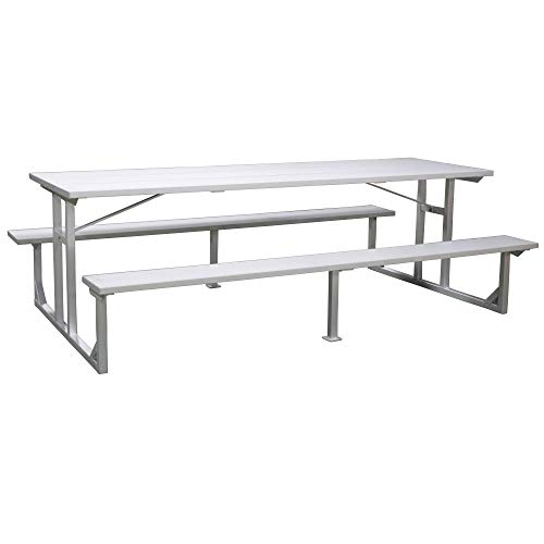 Titan Aluminum Picnic Table, Patio and Deck Furniture, Outdoor Lawn Decor, 8′
