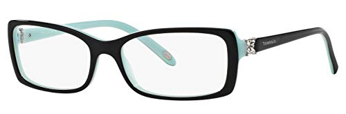 Tiffany & Co. TF 2091-B Women Rectangle Eyeglasses RX - able Frame (Black Blue 8055, ()