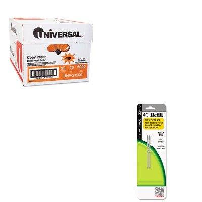 KITUNV21200ZEB85612 - Value Kit - Zebra Refill for 4C Pocket Pen (ZEB85612) and Universal Copy Paper (UNV21200) (4c Pocket Pen)