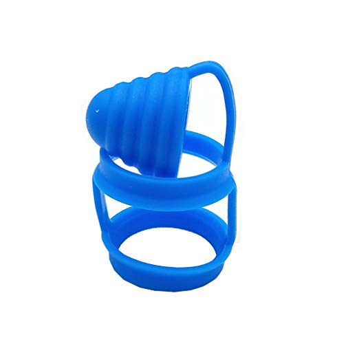 CENGLORY 2 in 1 Silicone Anti Slip Vape Bands Attached Drip Tip Cover Vape Rings Dust Cap for TFV12 Prince TFV8 Big Baby Bubble Glass (1, Blue)