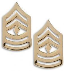 Marine Corps Collar Device (Marine Corps Gunnery Sergeant 22K Gold Finish Collar Device Rank Insignia Pair)