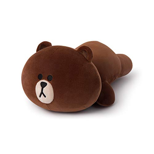 LINE FRIENDS Soft Pillow - Brown Character Mini Stuffed Cushion, Brown