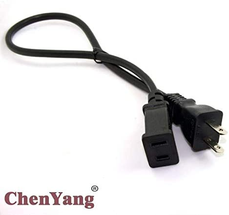 Black 0.5m Generic CY 10pcs//lot 2-Prong 2 Outlets Outlet Saver Power Extension Cord Cable 50 cm