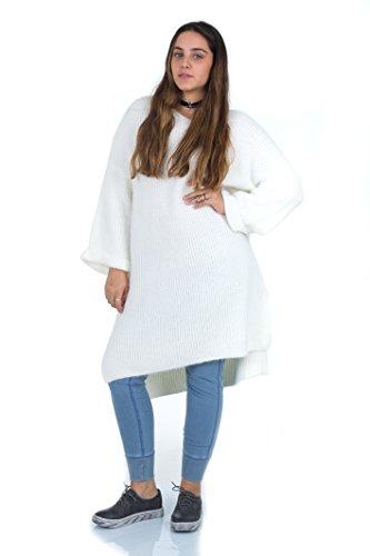 Alicia Dress (Simply Love 'Alicia' Dress Women Fuzzy Under Knee Cozy V Neck Winter 3/4 Sleeves Oversize (Cream))