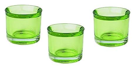 Unbekannt Juego de 3 portavelas de té en Verde Claro ...