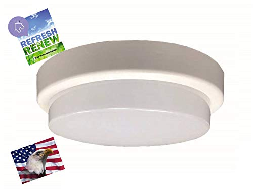 - iLett Round LED Flush Mount Fixture Ceiling Light, 7