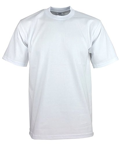 Pro White T-shirt - Pro Club Men's Heavyweight Cotton Short Sleeve T-Shirt, White, XX-Large