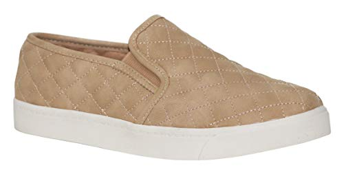 soda alone Taupe quilted sneakers (5.5)