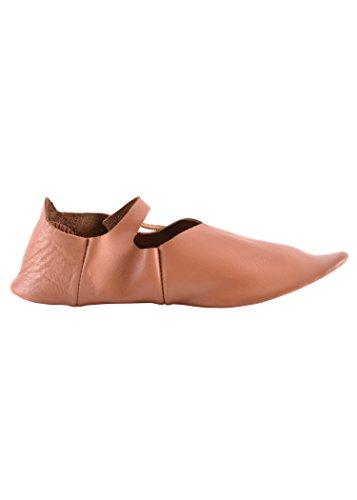 Vikings Brown Lacing Medieval Leather shoes Wendegenäht Side Riemenschuhe LARP ZfPqwX