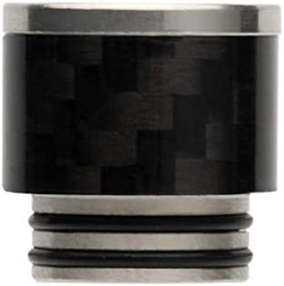 Lingketech delrin 510 Flat Drip Connector tip Polished Adaptor Accessory USA Stock Arrive in 3-7 Days -Black