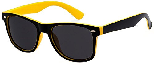 Classic Adult Eyewear 53mm POLARIZED Caminantes Wayfarers Sunglasses (Yellow, - Cheap Bans Ray Wayfarer