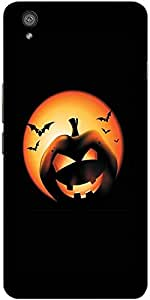 Snoogg Halloween Pumpkin Designer Protective Back Case Cover For One Plus X