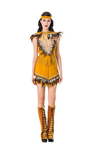 2018 Women's Native American Costume Sexy Adult Indian