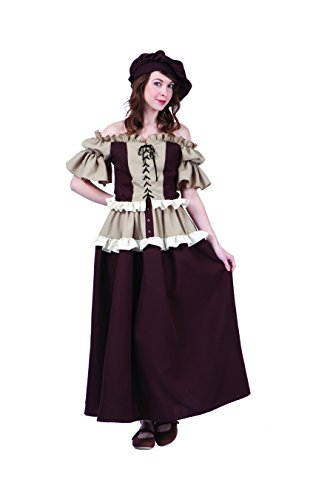 RG Costumes Women's Colonial Peasant Kathryn, Brown/Tan, (Colonial Womans Costumes)