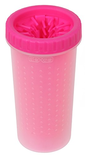 Dexas MudBuster Portable Dog Paw Cleaner, Large, Pink