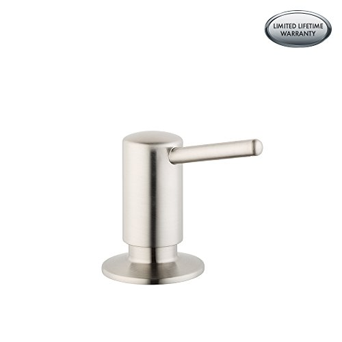 Hansgrohe 04539800 S Soap Dispenser, Steel Optik, Small, Silver from Hansgrohe