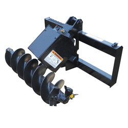 """Lowe - Skid Steer Post Hole Digger Assembly With 12"""" Auger"""