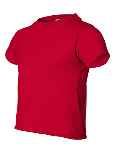 - Rabbit Skins Toddler Short-Sleeve T-Shirt (M-3301) Tee Available in 31 Colors 2T Red
