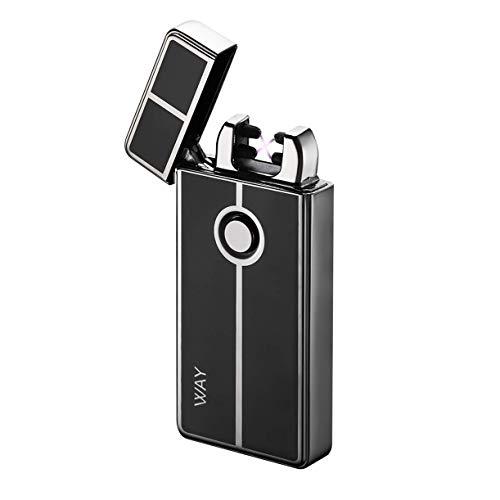 VVAY Electric Dual Arc x Plasma Lighter USB Rechargeable, Windproof Flameless, E Lighter