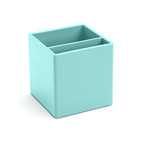 Poppin Pen Cup Holder Aqua Blue Office Desk Organizer Accessories (Large Image)