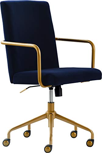 Elle Decor CHR10058C Giselle Home Office Chair, Navy Blue