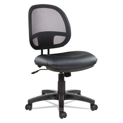 Alera ALEIN4815 Interval Series Swivel/Tilt Mesh Chair, Black Leather
