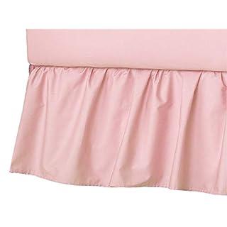 American Baby Company Ultra Soft Microfiber Ruffled Porta/Mini-Crib Skirt, Blush Pink, for Girls