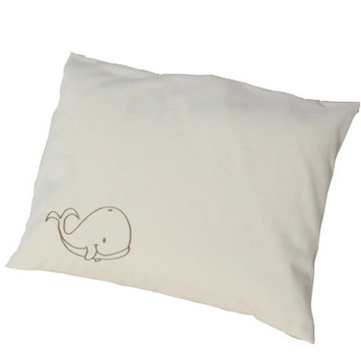Lifekind Organic Toddler Pillow with Whale Pillowcase 12x16'' by LIFEKIND