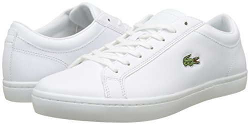 Lacoste Heren Straightset Bl 1 Sneakers, Wit, 9 St