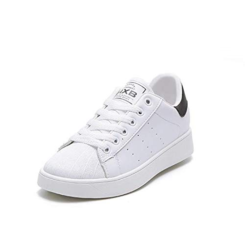 Negro Blanco Mujer Poliuretano Red Otoño Flat Round Zapatos Rojo Heel Comfort Sneakers ZHZNVX PU Toe de Primavera qIOAE6w