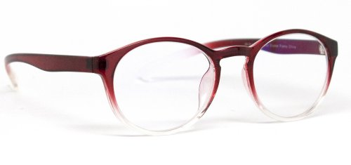 Protective Computer Glasses by Phonetic Eyewear Alpha (Burgundy Red - Alpha Glasses Frames